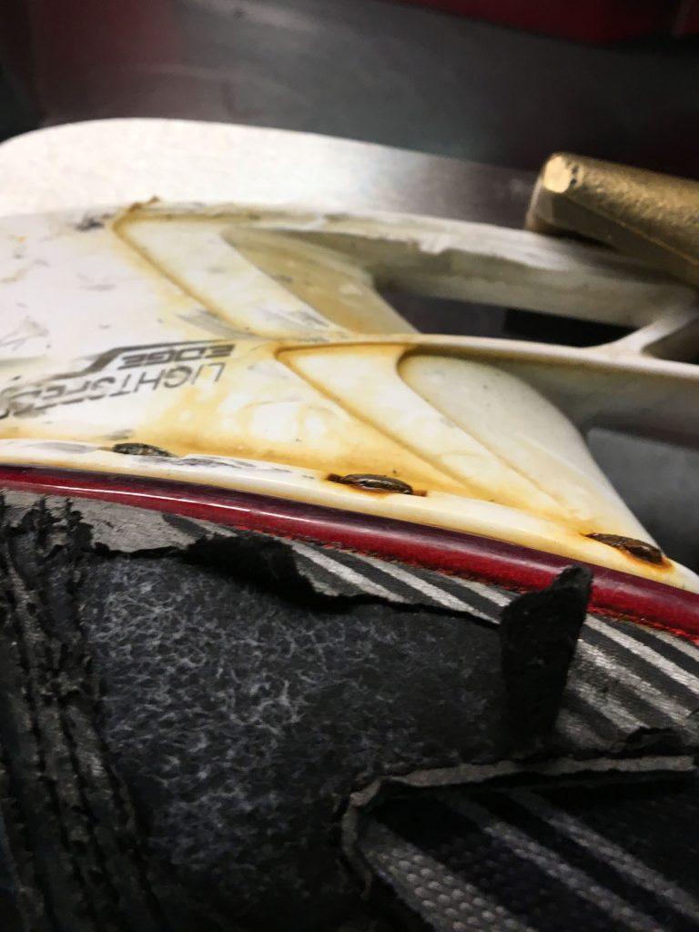 Skate holder rusted